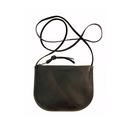LUNA CROSSBODY Onyx Black • Pebbled Leather Bag