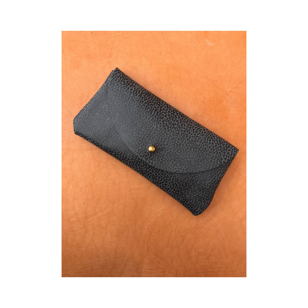 Limited Edition SUNNIES CASE Pebbled Gray • Sunglasses Pouch or Wallet