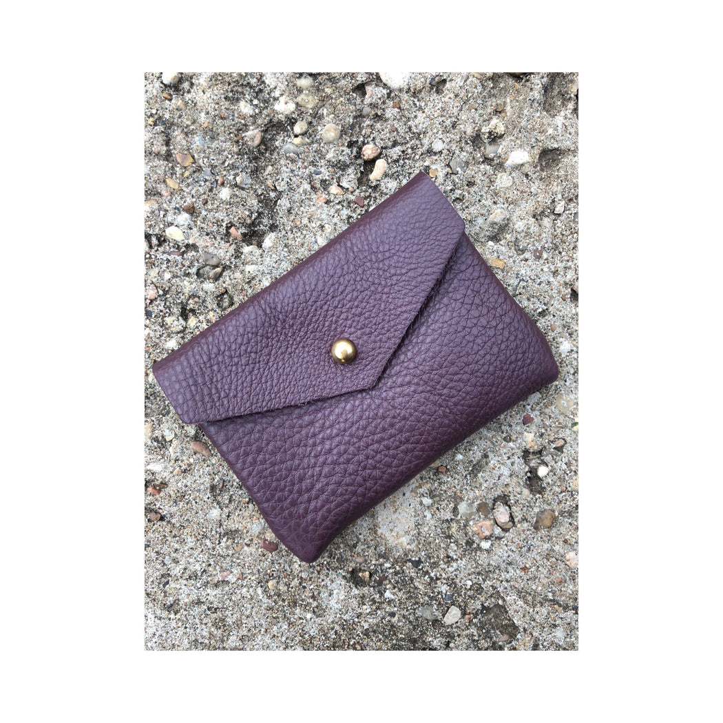 Limited Edition CARD WALLET Purple Leather • Business Card Holder • Credit Card Case