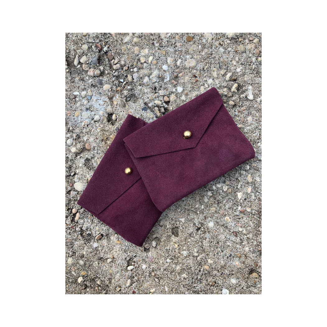 Limited Edition CARD WALLET Purple Suede • Business Card Holder ...