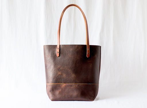 LARGE TOTE Rust Brown • Leather Everyday Bag