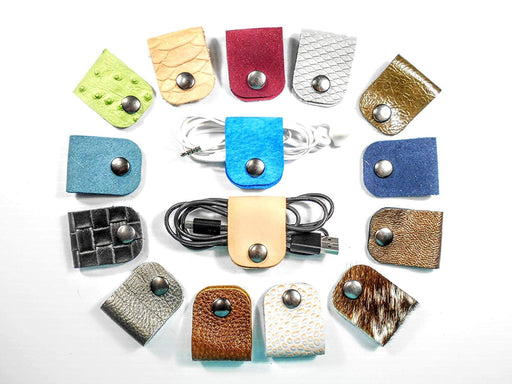CORD KEEPER Assorted Colors • Leather Cable Tacos