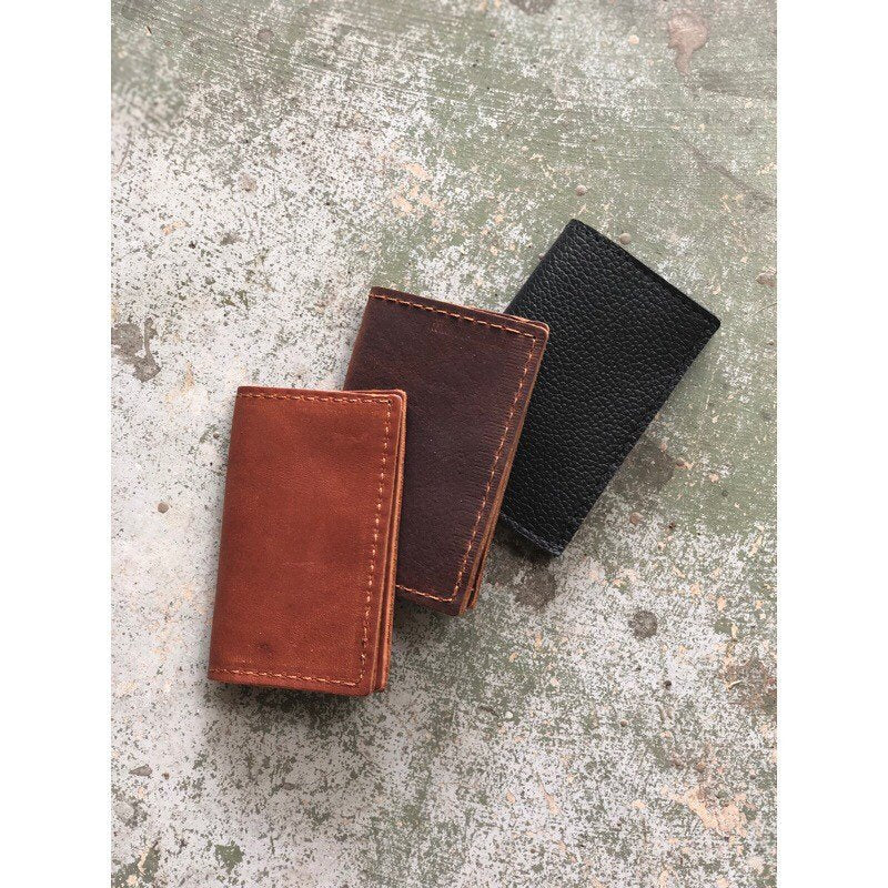BIFOLD WALLET Henna Brown • Oil Tanned Leather Unisex Card Wallet