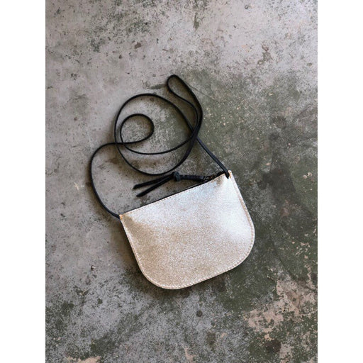 LIMITED EDITION Luna Crossbody Silver Leather • Textured Leather Bag