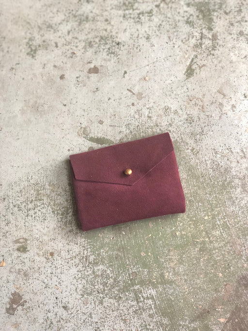CARD WALLET Purple Suede • Business Card Holder • Credit Card Case • Limited Edition