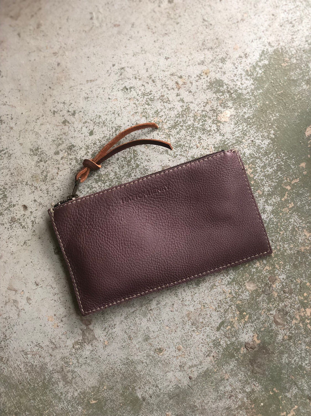 ZIP WALLET Soft Purple Leather • Pebbled Leather Case