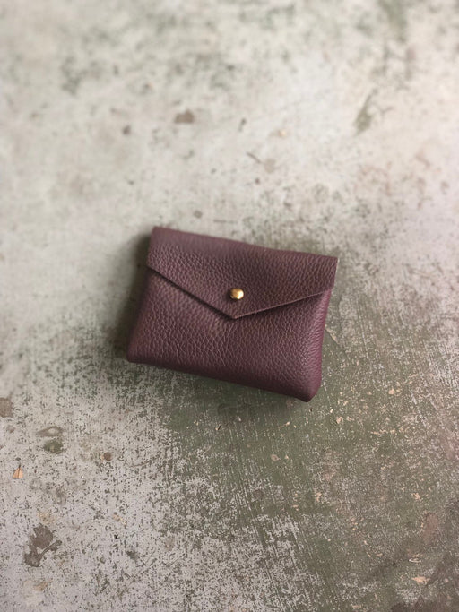 CARD WALLET Soft Purple Leather • Business Card Holder • Credit Card Case • Limited Edition