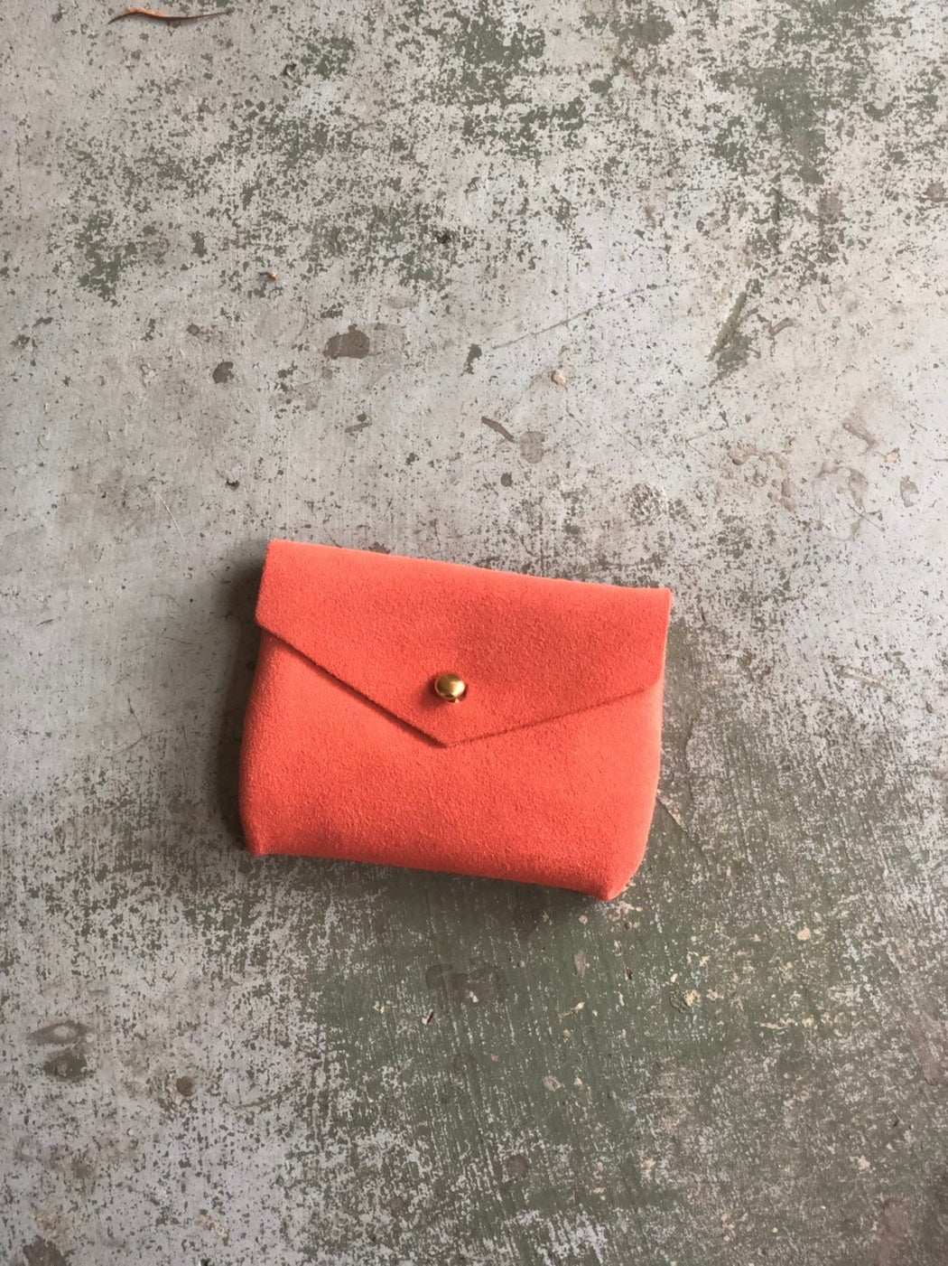 CARD WALLET Tangerine Suede • Business Card Holder • Credit Card Case • Limited Edition