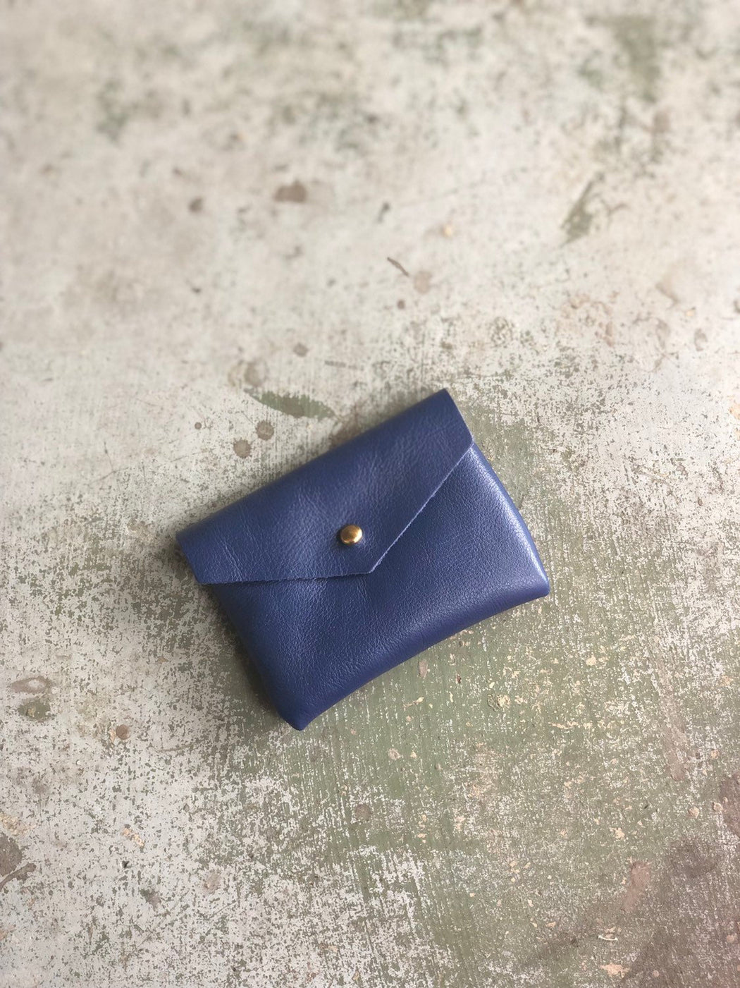 CARD WALLET Soft Blue Leather • Business Card Holder • Credit Card Case • Limited Edition