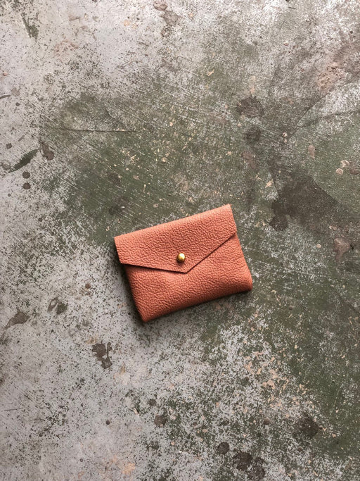 CARD WALLET Clay Pink Leather • Business Card Holder • Credit Card Case • Limited Edition