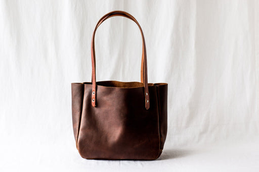 SMALL TOTE Henna Brown • Everyday Leather Bag