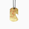 Dogtag Necklace - Recycled Cymbal Bottle Opener