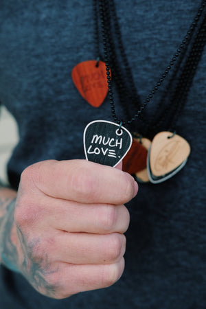 'Much Love' Signature Edition Pick Necklace - Ebony