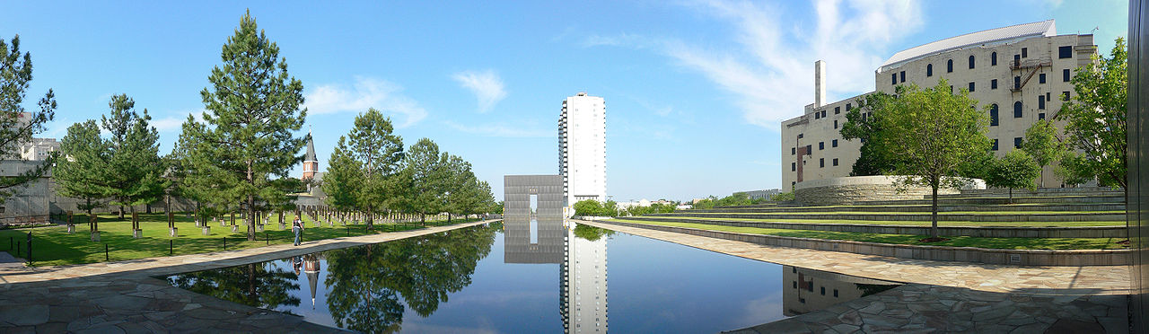 AP Murrah Building Oklahoma City Bombing Memorial Panoramic