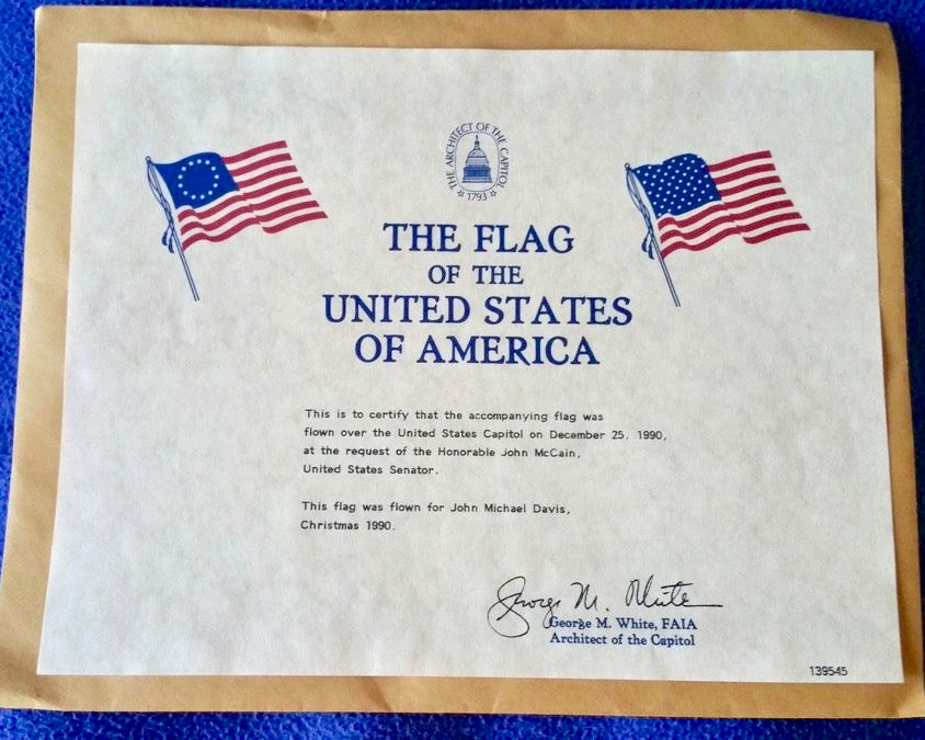 "Certificate from the Architect of the Capitol"" style="