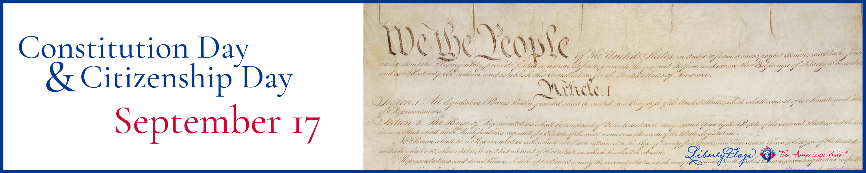 Constitution Day is September 17