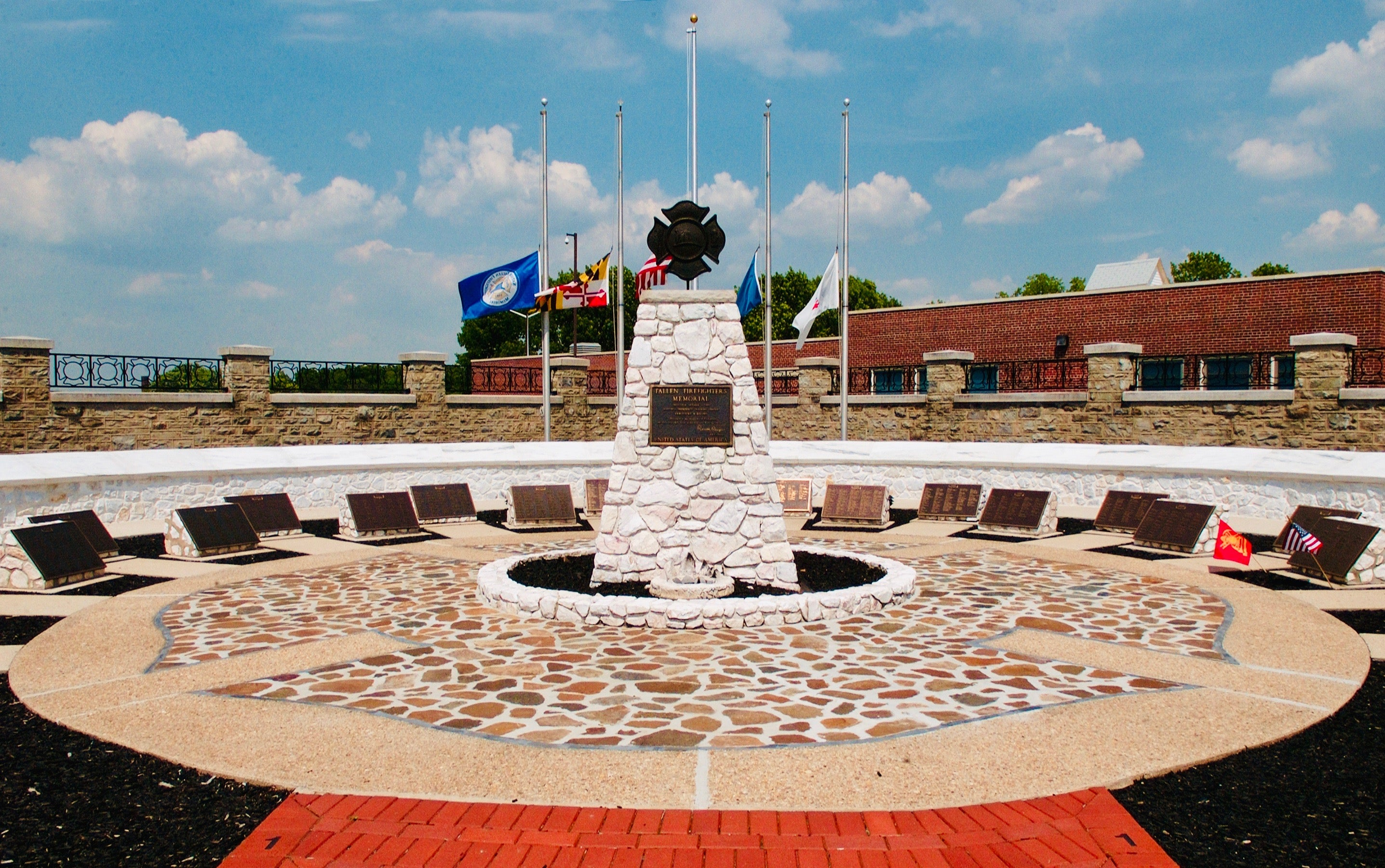 Monument at the National Firefighter's Memorial