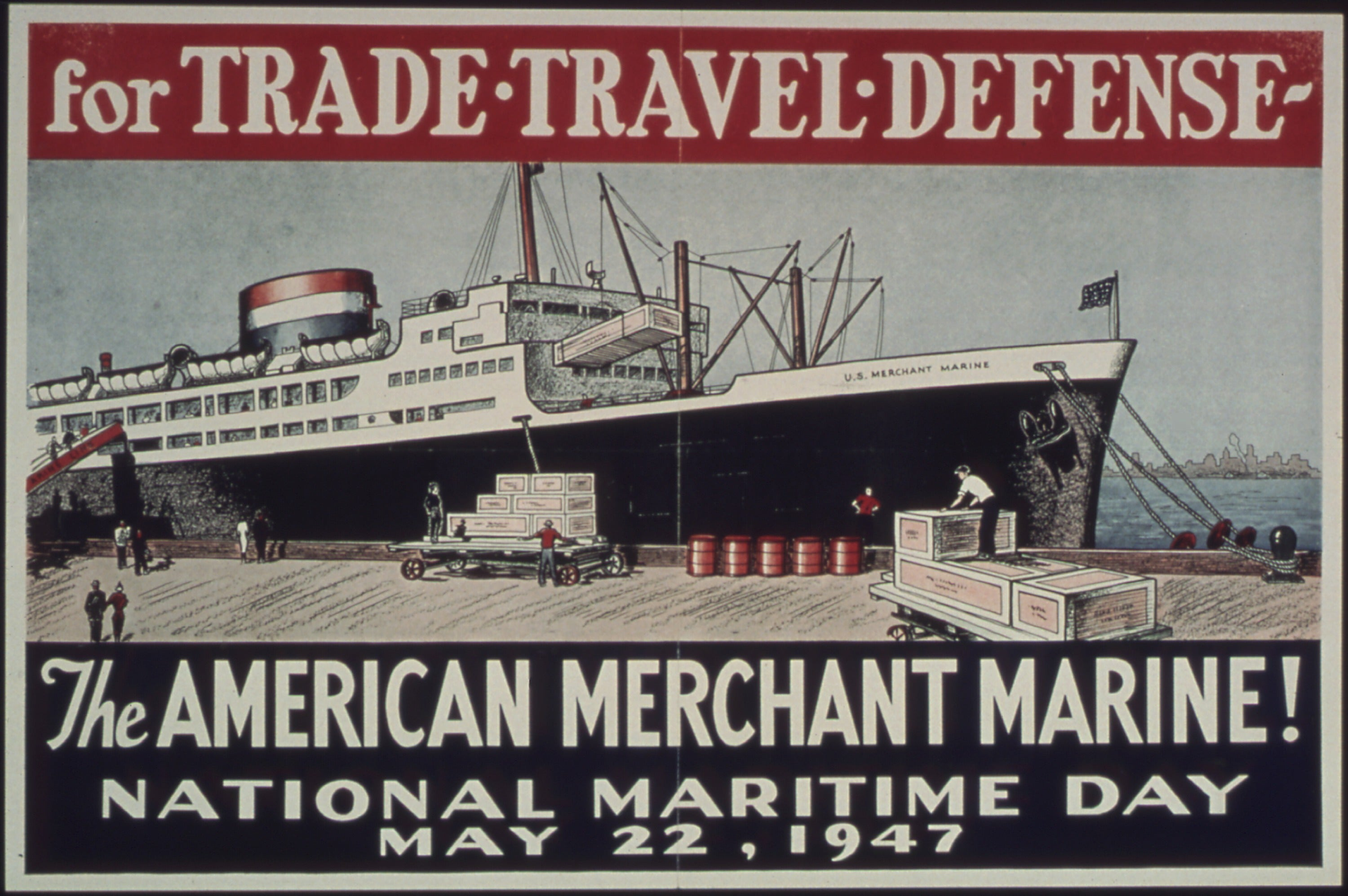 Merchant Marines Poster from 1947