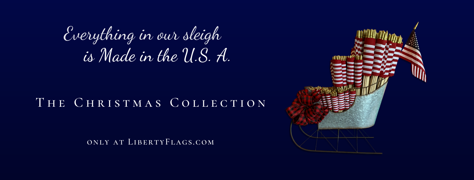 The Christmas Collection from LIBERTY FLAGS, The American Wave®
