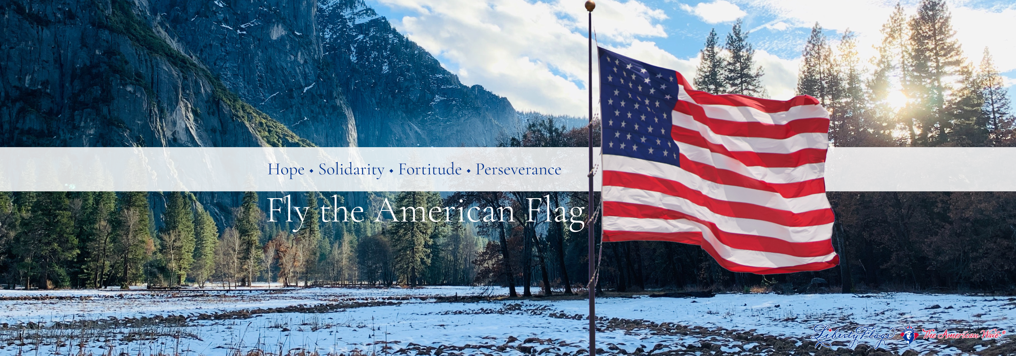 100% American-made Rugged Outdoor American Flags from LIBERTY FLAGS, The American Wave®