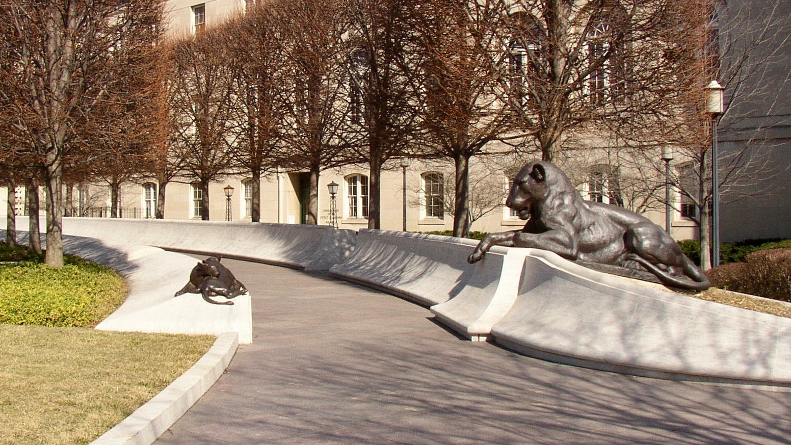 National Law Enforcement Officers Memorial lioness pathway