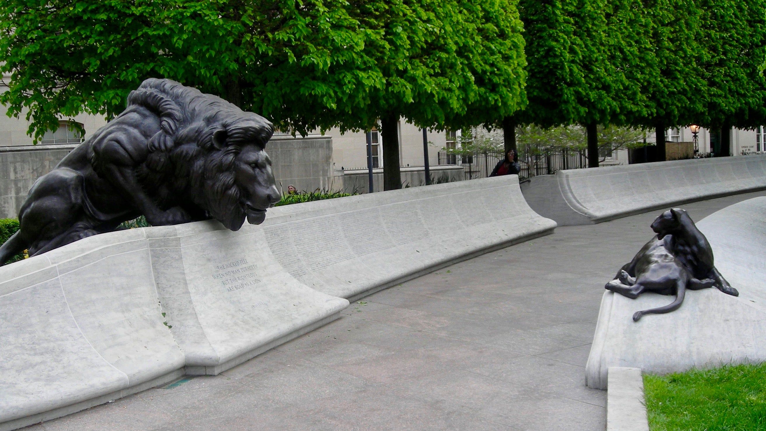 National Law Enforcement Officers Memorial lion pathway