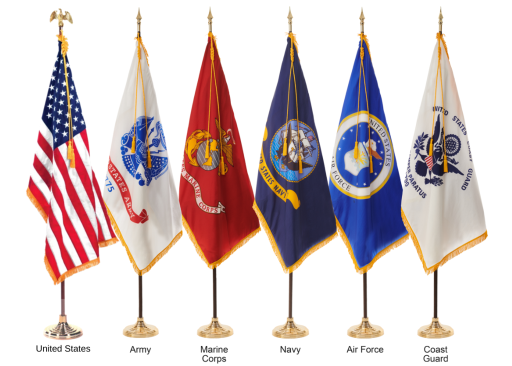 100% American-Made Ceremonial United States Military flags from LIBERTY FLAGS, The American Wave®