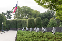 American flag inside the Korean War Veterans Memorial