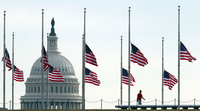 flags half staff at the U.S. Capitol