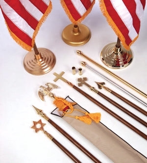 Indoor Flagpole Set