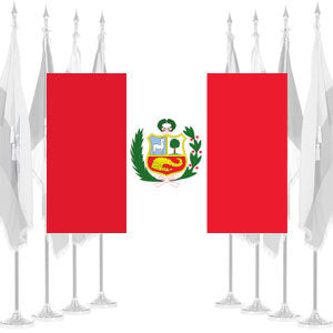 Peru Government Ceremonial Flags