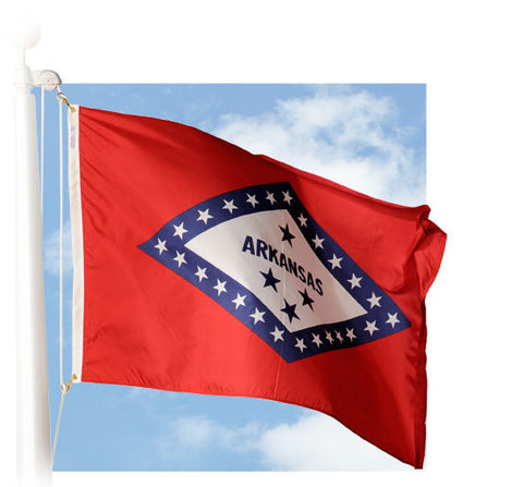 Arkansas Outdoor Flags