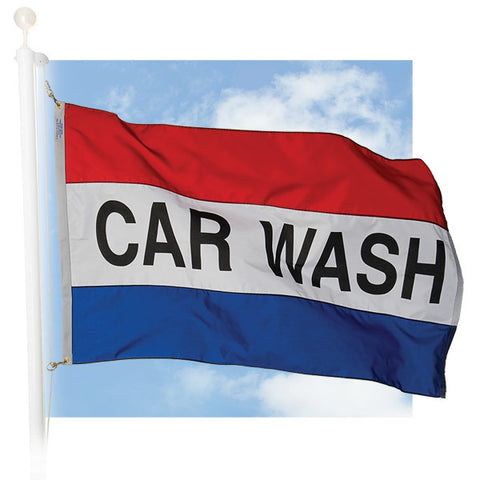 Message Flags - Car Wash