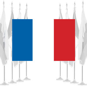 France Ceremonial Flags