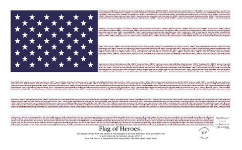 Flag of Heroes 3'x5' nylon outdoor flag