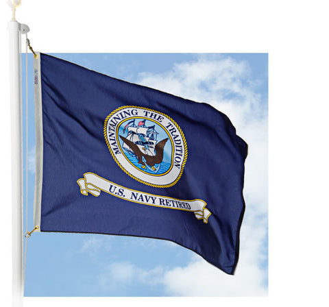 Navy Retired Outdoor Flags