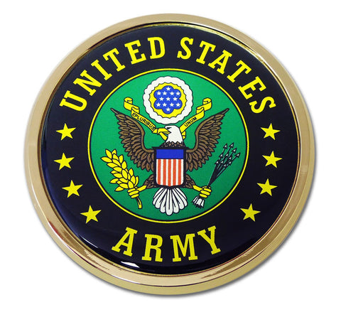 Army Chrome Auto Emblem