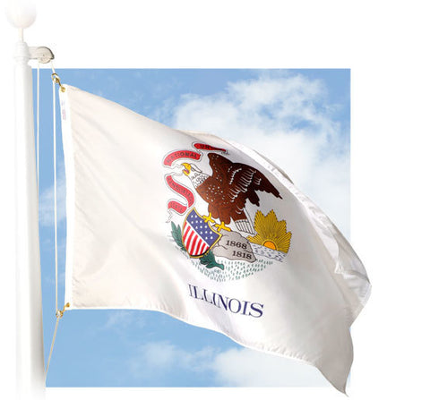 Illinois Outdoor Flags