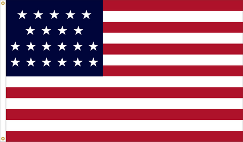 21 Star Outdoor Historic U.S. Flags