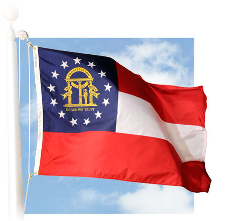 Georgia State Outdoor Flags