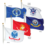 Military Nylon Outdoor Flags -  Set of 5 flags only