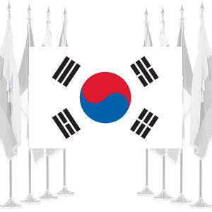 South Korea Ceremonial Flags