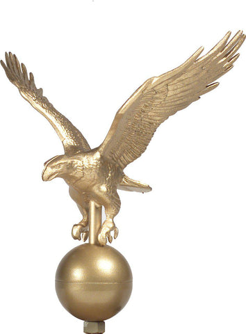 Flagpole Eagle Ornament - Gold