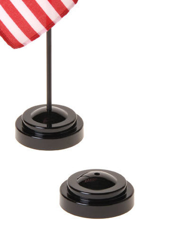 "Plastic Display Bases for 4""x6"" Flags on 10""x3/16"" Staffs"
