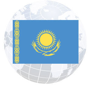 Kazakhstan Outdoor Flags
