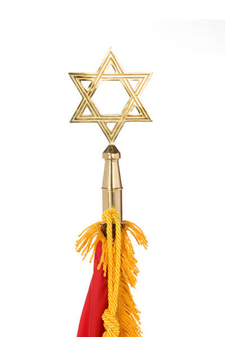 Ceremonial Flagpole Ornament - Star of David