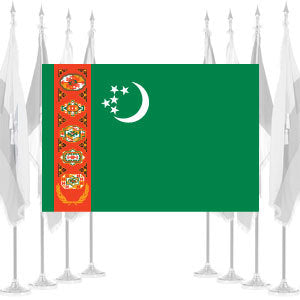 Turkmenistan Ceremonial Flags