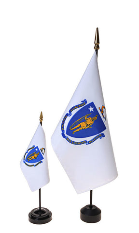 Massachusetts Small Flags