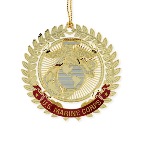 Marine Corps Filigree Ornament