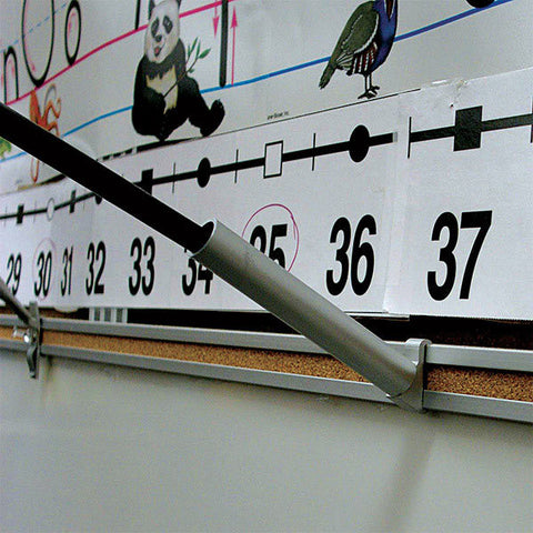 Map Rail Bracket for Classroom Flags